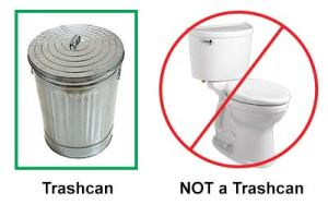 Trashcan vs Toilet