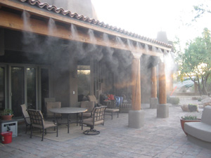 Patio Misting At Restaurant