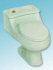 Universal Rundle one-piece Bordeau toilet in green